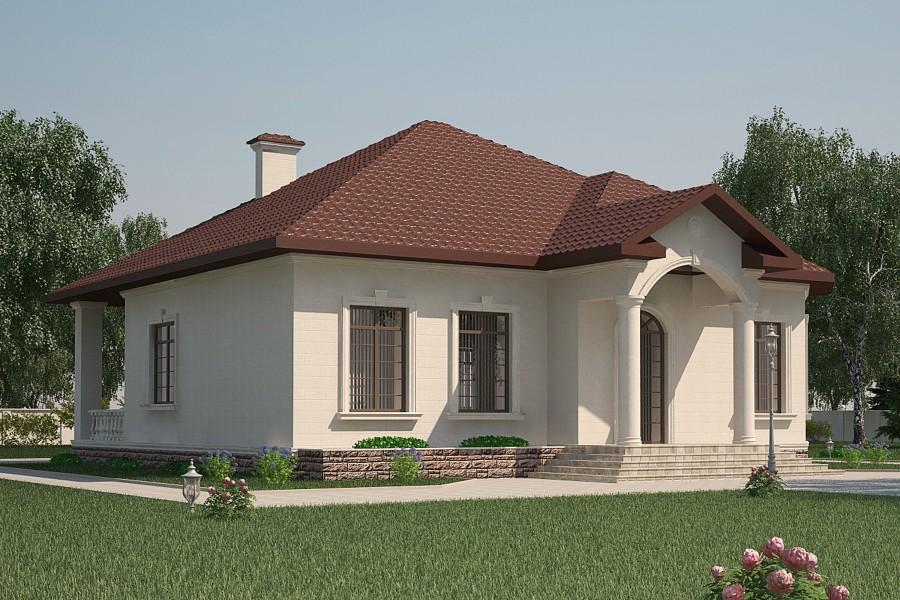 Одноэтажный дом D001