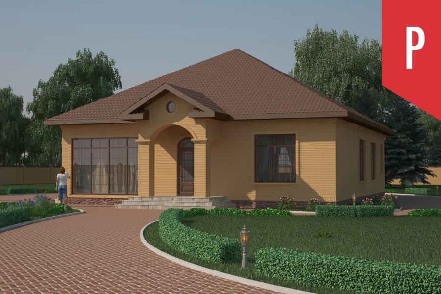 Одноэтажный дом D002