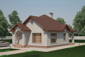 Одноэтажный дом D004