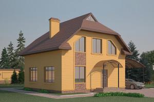 Двухэтажный дом D005