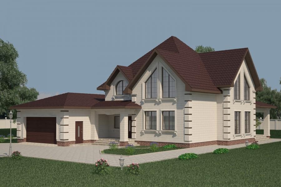 Двухэтажный дом D006
