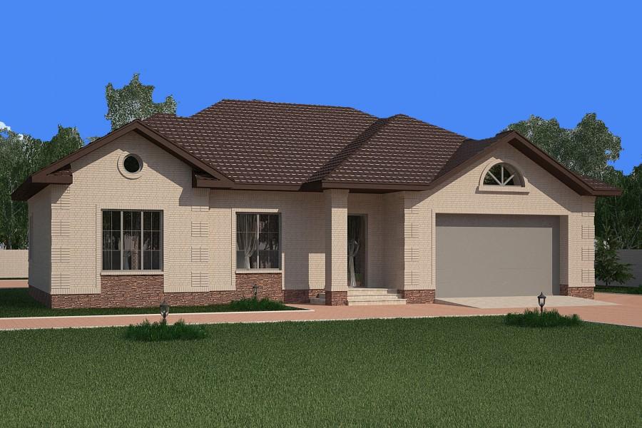 Одноэтажный дом D007