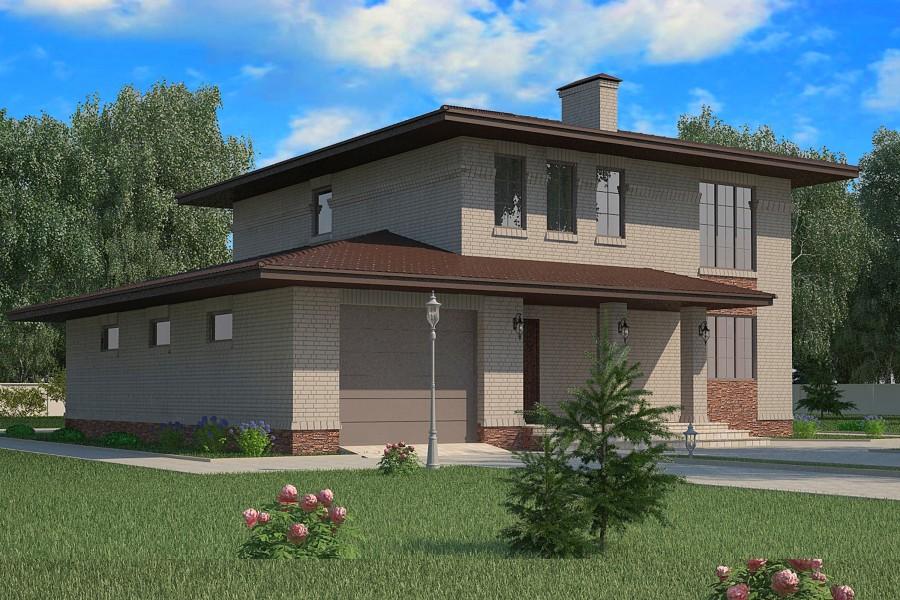 Двухэтажный дом D008