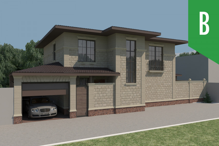 Двухэтажный дом D009