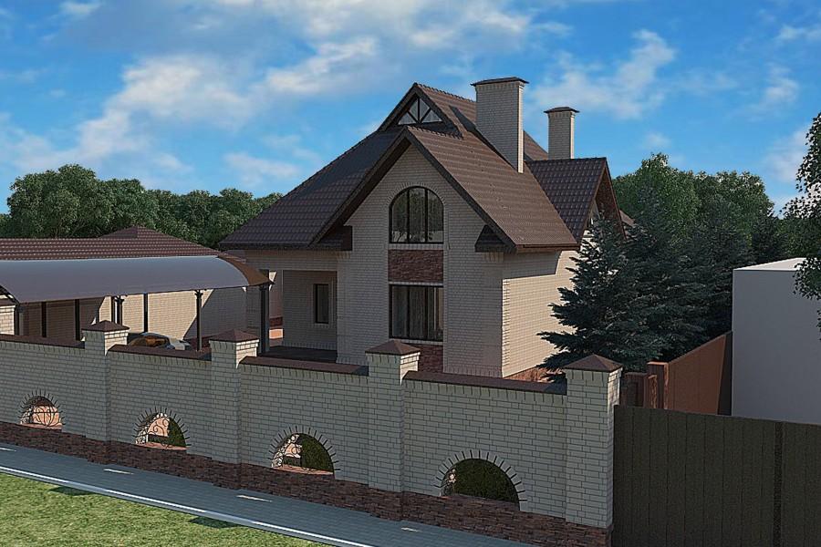 Двухэтажный дом D010