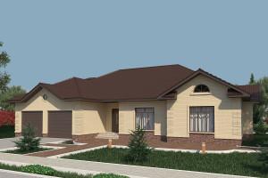 Одноэтажный дом D011