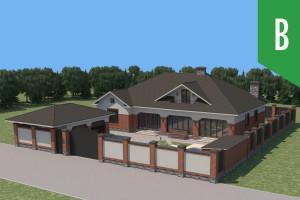Двухэтажный дом D014