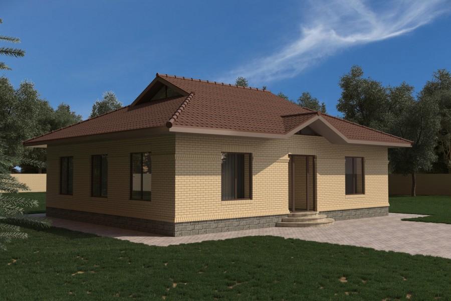 Одноэтажный дом D016