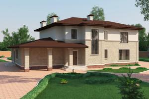 Двухэтажный дом D017