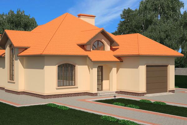 Двухэтажный дом D018