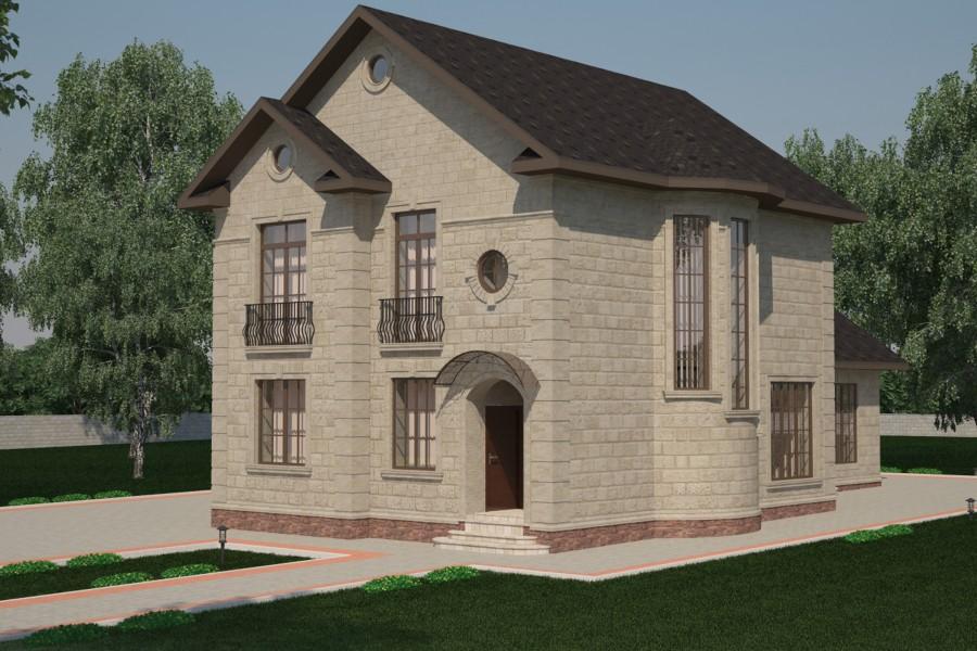Двухэтажный дом D019