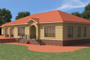 Одноэтажный дом D021