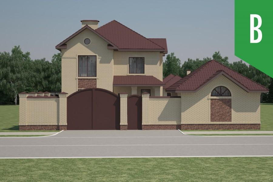 Двухэтажный дом D022