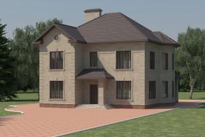 Двухэтажный дом D023