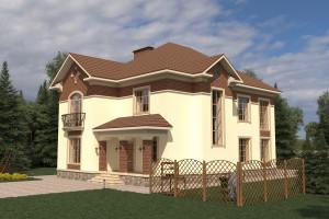 Двухэтажный дом D024