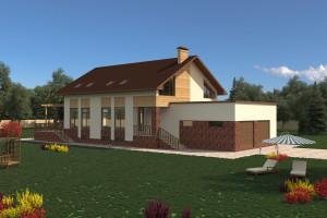 Двухэтажный дом D026