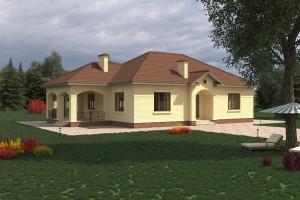 Одноэтажный дом D027