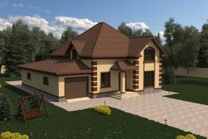 Двухэтажный дом D032