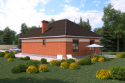 Одноэтажный дом D041