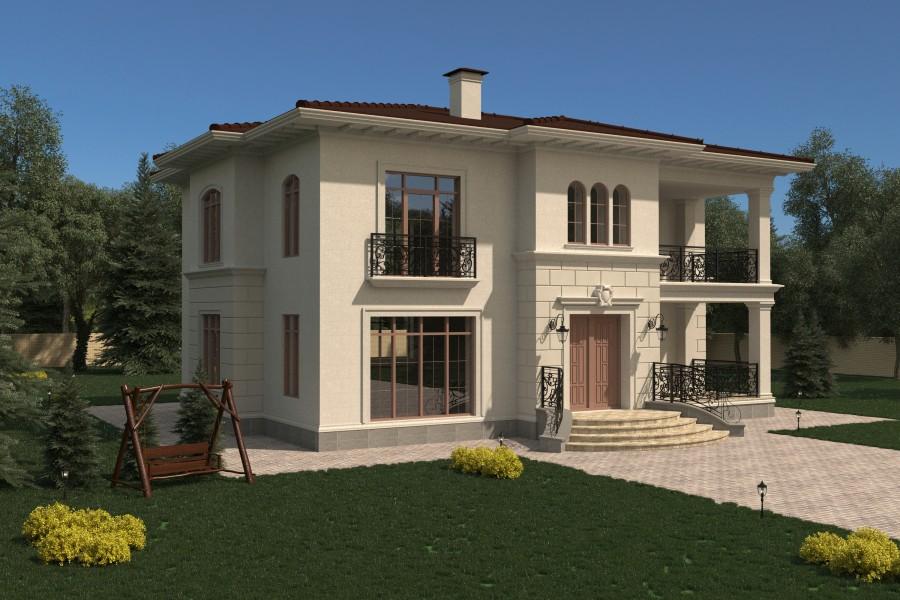 Двухэтажный дом D058