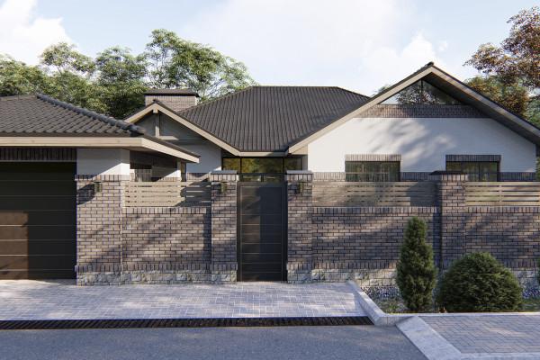 Одноэтажный дом D067