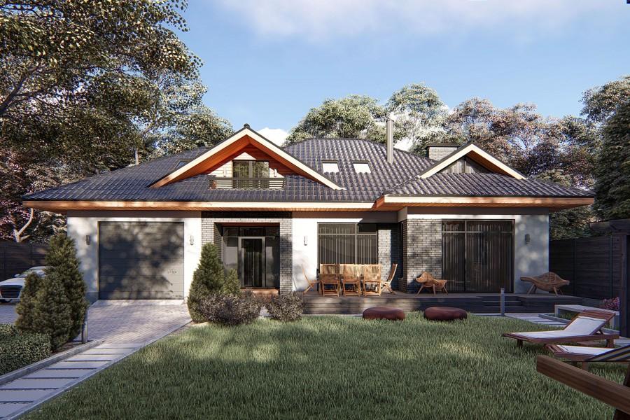 Двухэтажный дом D069
