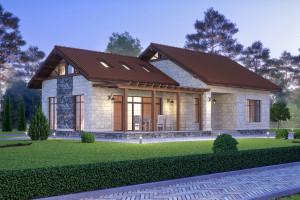 Двухэтажный дом D071
