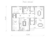 Одноэтажный дом D072
