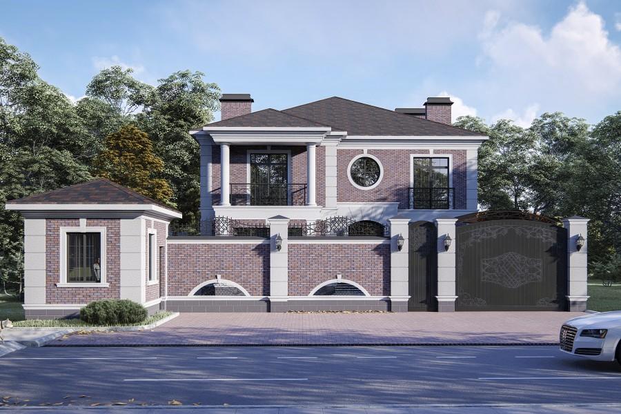 Трехэтажный дом D073