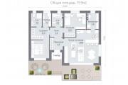 Одноэтажный дом D079.9