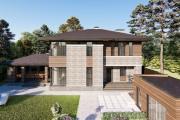 Двухэтажный дом D080