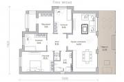 Одноэтажный дом D083