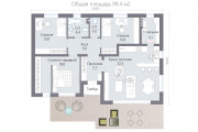 Одноэтажный дом D099.4