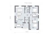 Одноэтажный дом D100