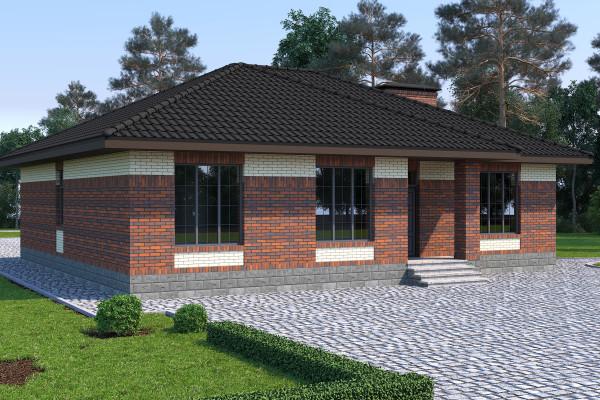 Одноэтажный дом D103