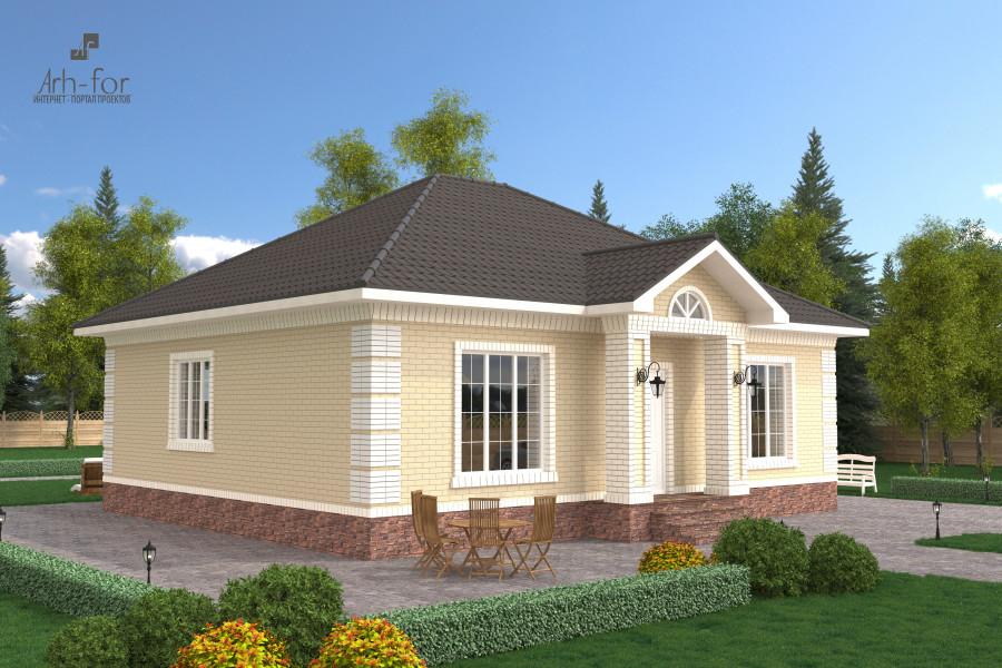 Одноэтажный дом D105