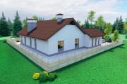 Одноэтажный дом D108