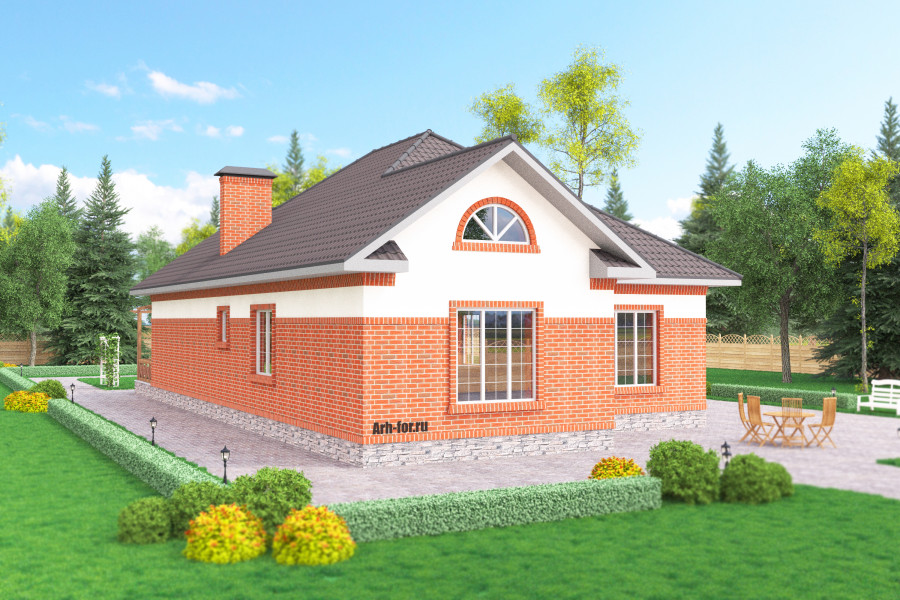 Одноэтажный дом D121