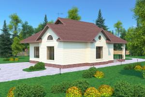 Одноэтажный дом D124