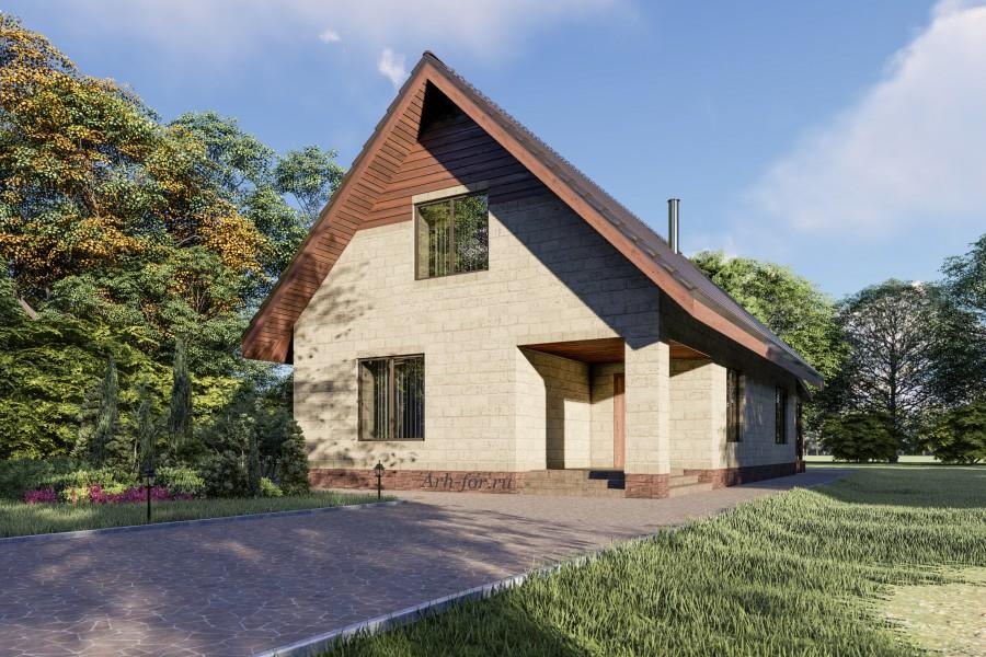 Двухэтажный дом D127